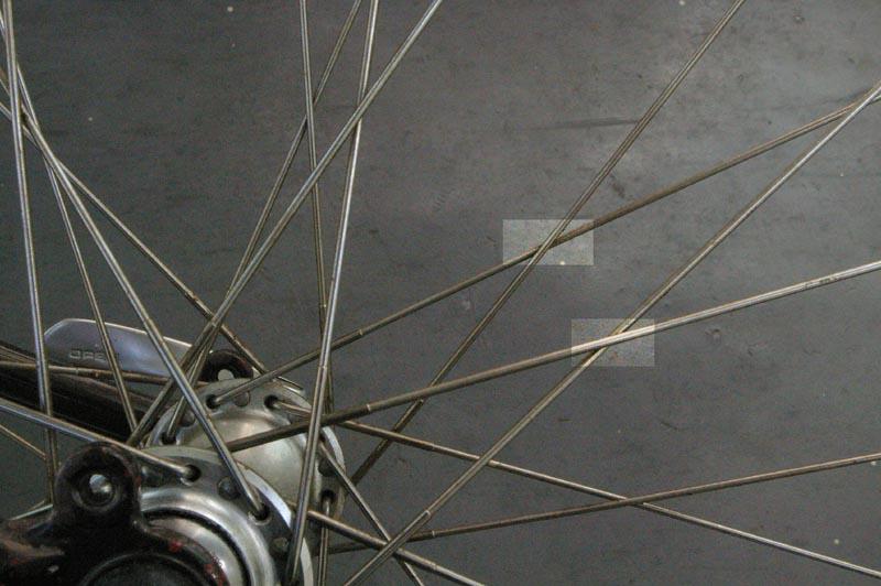 組み方 スポーク ママチャリ スポーク張替え:フロント側ダイナモハブ